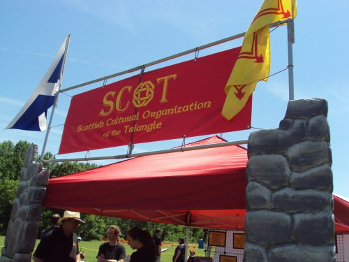 SCOT Info Booth and Flags