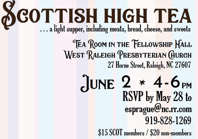 2018 Scottish High Tea Announcement
