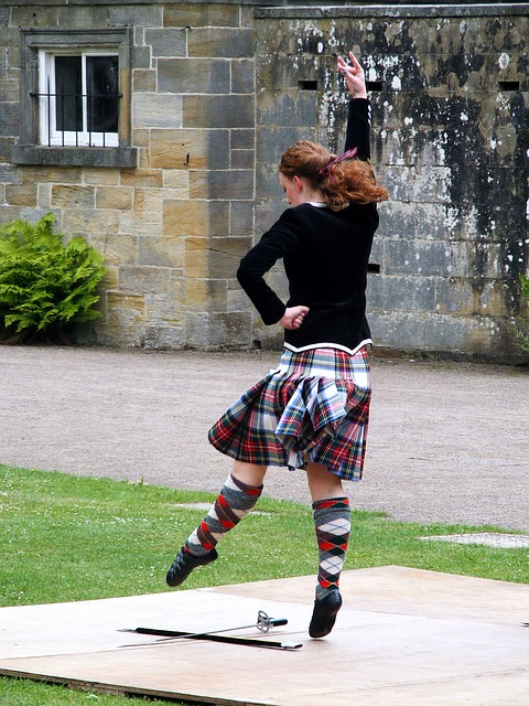 Scottish Sword Dancing Woman