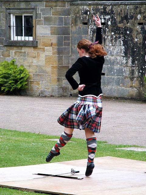 Scottish Sword Dancing Woman