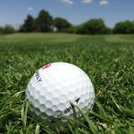 Golf ball on fairway