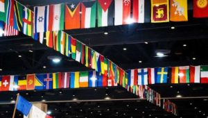 Flags at International Festival